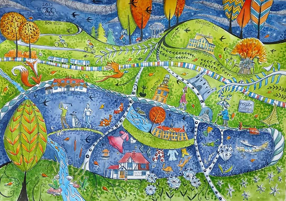 """Surrey Hills"" Limited Edition Print by Judit Matthews"