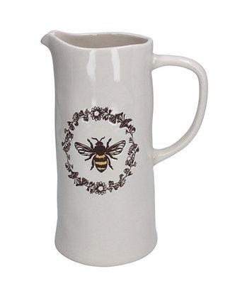 Ceramic Honey Bee Jug - White