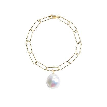 ORA Aurelia Baroque Pearl Chain Bracelet