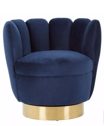 Dark Blue Velvet Chair