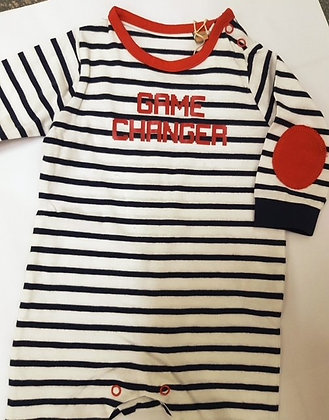 Navy Baby Grow by Boom Creations