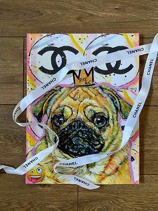 """Chanel Pug Princess"" by Marie O'Hara"