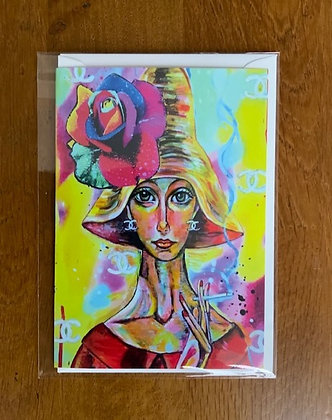 Lady in Red Card by Marie O'Hara Art