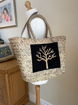 Embellished Straw Shopper by Thompson and Pooch
