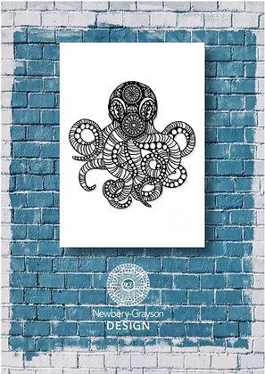 Mandala Octopus A4 Giclée Art Print by Newbery-Grayson Design