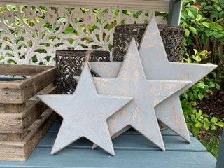 Set of three hanging grey stars from Homebee