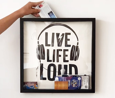MEMORY BOX FRAME – LIVE LIFE LOUD by Boom Creations