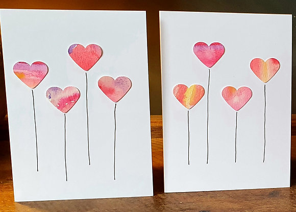Hearts card by She Makes