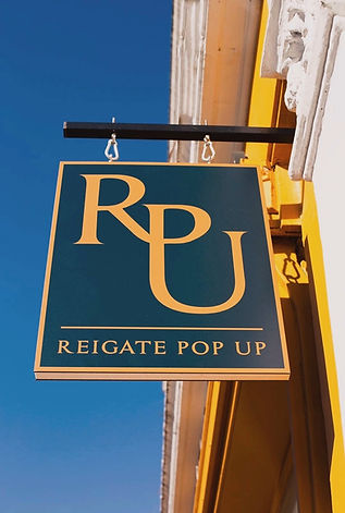 Reigate Pop Up Shop sign
