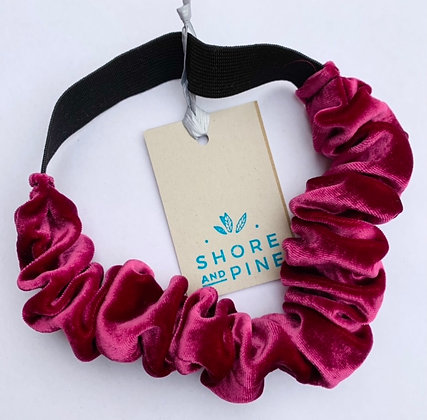Recycled velvet scrunchie band by Shore and Pine