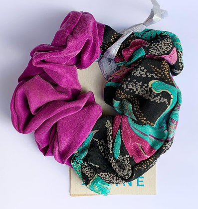 Recycled fabric scrunchie by Shore and Pine