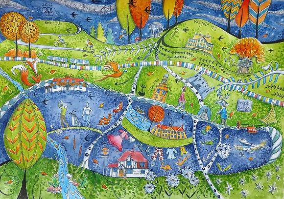 """""""Surrey Hills"""" by Judit Matthews"""