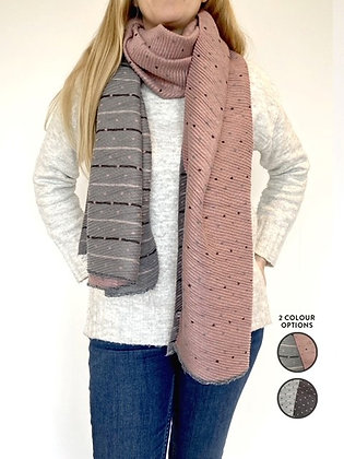 Lucie Pleated Dot Scarf by Olive&Me