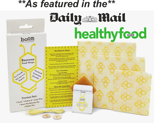 Beeswax Food Wraps by Boom Creations