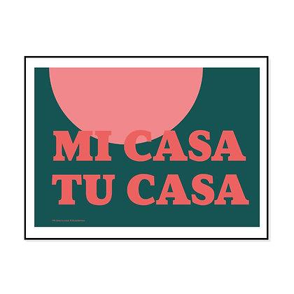 Mi Casa Tu Casa Art Print by Doodlemoo