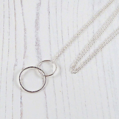 Long 30'' Silver Circles Eternity Necklace by Beau Bella Jewellery