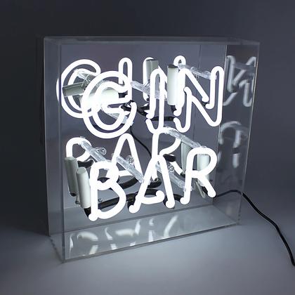 GIN BAR ACRYLIC  BOX NEON LIGHT BOOM CREATIONS