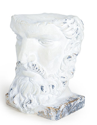 TALL RUSTIC STONE EFFECT CLASSICAL FACE PLANTER
