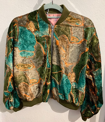 Recycled velvet bomber jacket by Shore and Pine