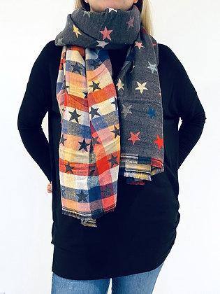 Freda Multi star scarf by Olive&Me