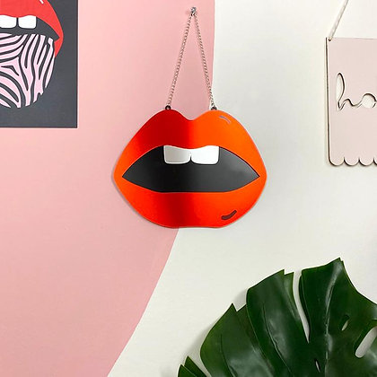 Lips Mirror Red (variants Silver, Gold, Red) by Doodlemoo