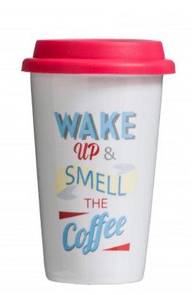 Wake Up Travel Mug (Double Walled)