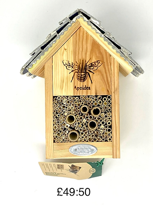 Bee House with Stained Glass Roof by Rosie's Stained Glass