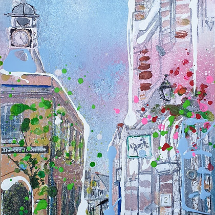 Reigate Old Town Hall Card by Julia Adams,