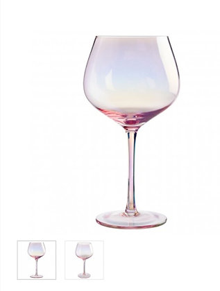 Gin Glasses Frosted Deco Set
