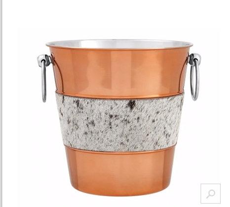 Cowhide Champagne/ Wine Bucket