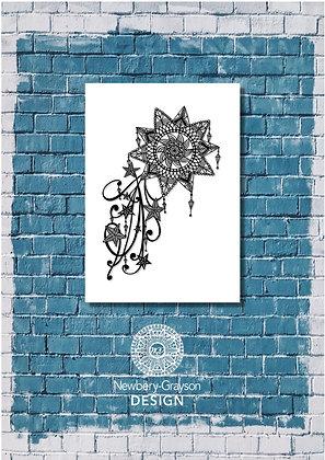 Mandala Shooting Star A4 Giclée Art Print by Newbery-Grayson Design