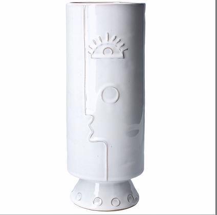 Ceramic Vase 30cm - White Profile