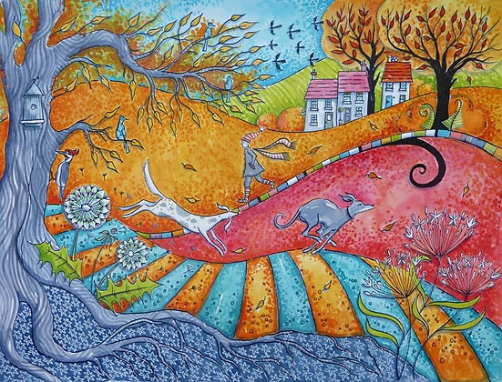 Judit Matthews  Art - Windy Walk