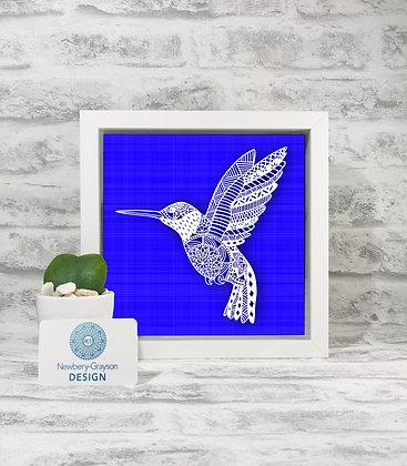 Framed Kingfisher Papercut by Newbery-Grayson Design