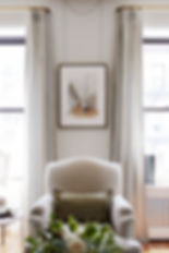 Josh Pickering New York apartment interior design colefax and fowler silk curtains french chair