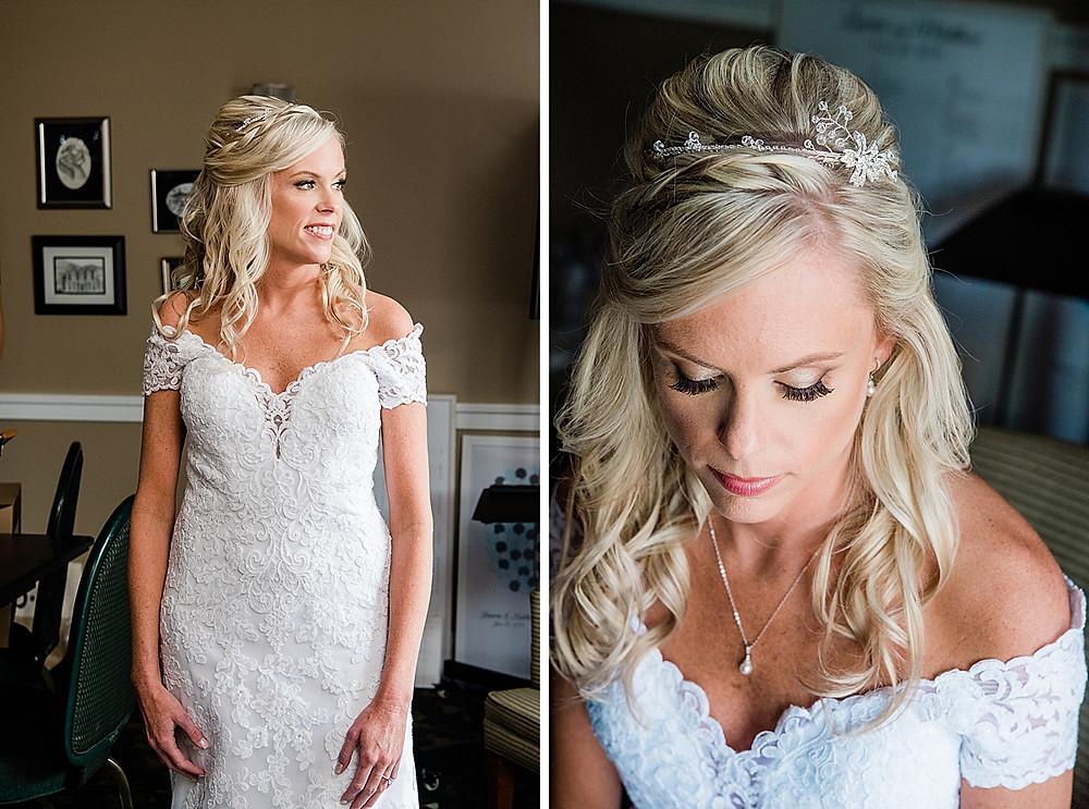 maryland golf and country club wedding bride