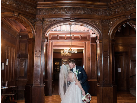 Amber + Adam : The Engineer's Club at the Garret-Jacobs Mansion, Baltimore, MD