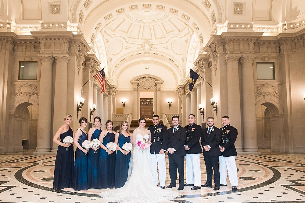 bridal party photos bancroft hall naval academy