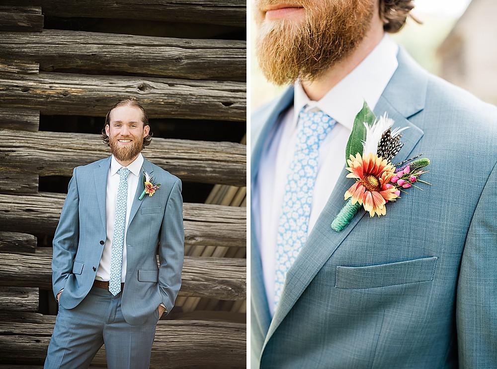 Historic London Town Wedding, groom
