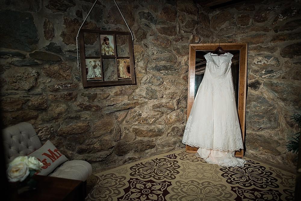 dress hanging barn