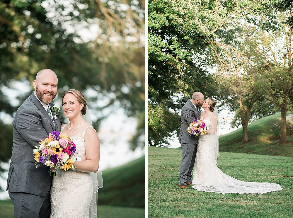 historic london town garden wedding bride and groom