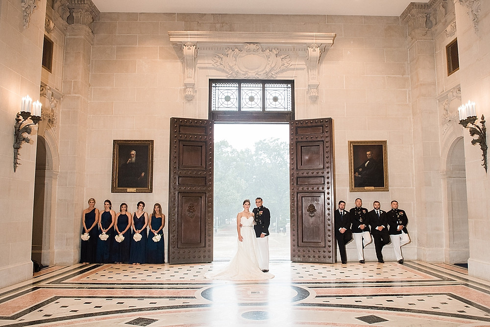 bridal party portraits naval academy bancroft hall