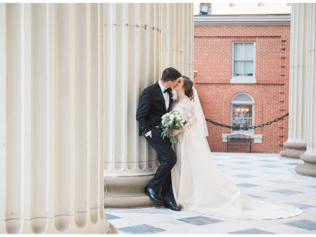 Emily + David : Baltimore Basilica // Whitehouse Caterers at Overhills Mansion