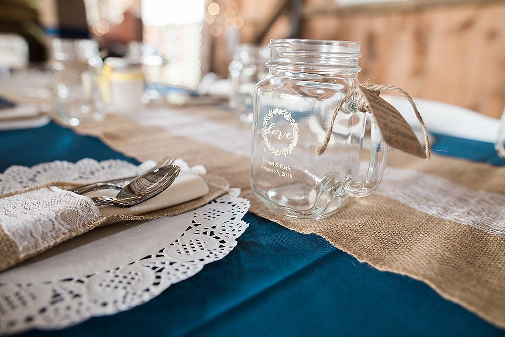 wedding favor mason jar carroll country farm museum
