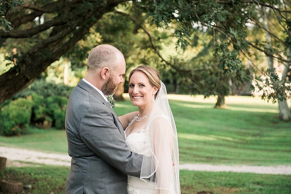 historic london town garden oak tree bride and groom