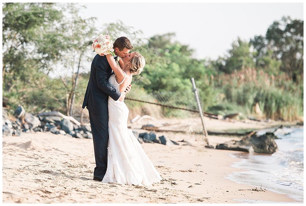 couple embracing Chesapeake Bay Beach Club