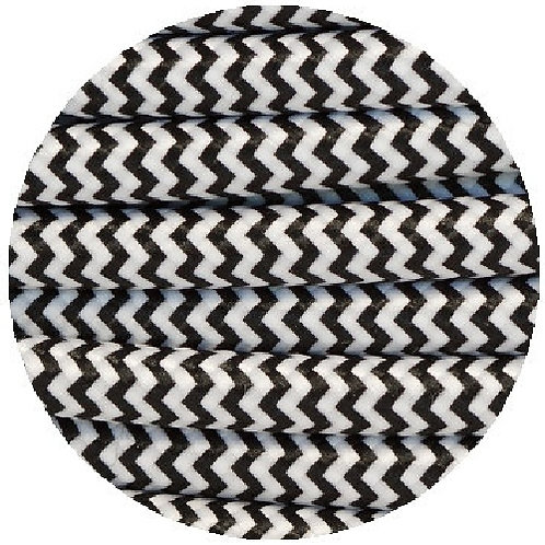Fabric Cable in chevron pattern - 4 colors