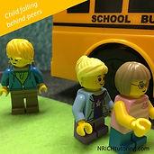 Kids in school bus line