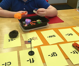 Student working on blends
