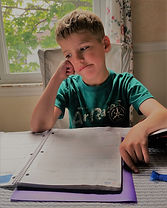 Boy homework frustrated